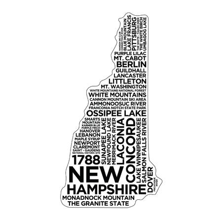 New Hampshire State Typography  イラスト・ベクター素材