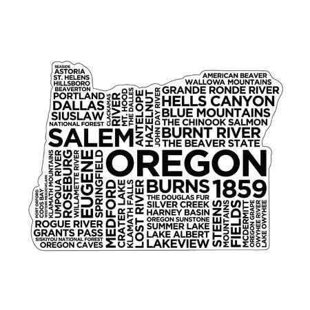 Oregon State Typography Illustration
