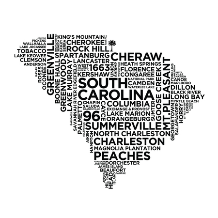 South Carolina State Typography 版權商用圖片 - 83252624