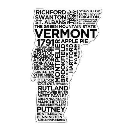 Vermont State Typography