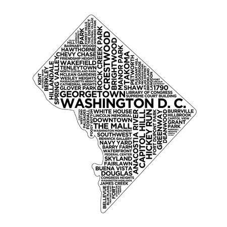 Washington D.C. State Typography
