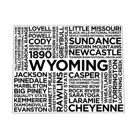 Wyoming State Typography