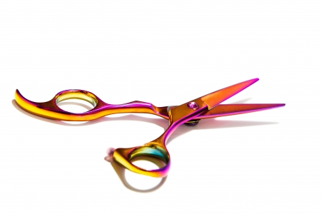 scissors hair: Beautiful unusual scissors for trimming hair pink for blondes