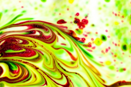 Colored paint stains smeared in a chaotic mess Stock Photo - 17844941