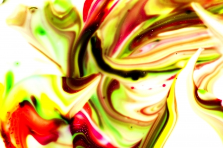 corrode: Colored paint stains smeared in a chaotic mess