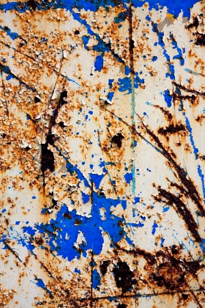 Cracked paint on an old metal surface. Grunge rusty metal texture Stock Photo - 19104747
