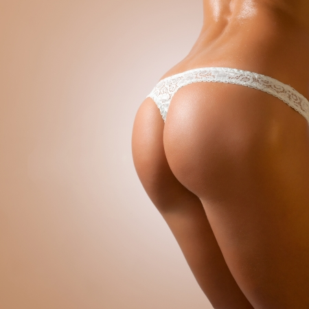 PERFECT SEXY BUTTOCKS IN LINGERIE  Stock Photo