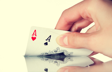 The man handed out a pocket pair of aces in Texas poker