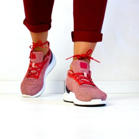 Womens legs in sneakers