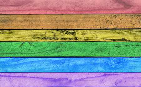 Colorful textured wood for background. Colors of rainbow, wood texture,