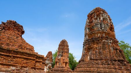 History of Thailand Ancient temples and cities have decay. 版權商用圖片