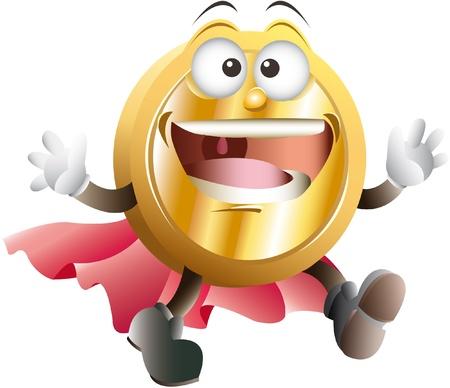 mascot coin Stock Vector - 17872411
