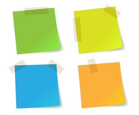 カラフルなスティック メモ用紙