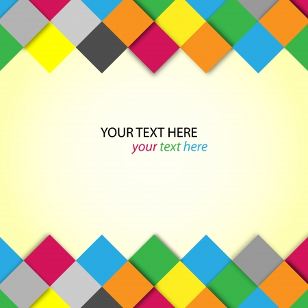 background design: Abstract colorful blocks with place for text Illustration