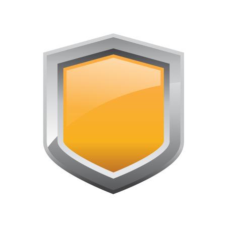 safeguards: Vector orange shield