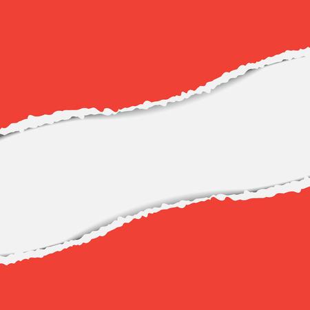 shred: Red torn paper Illustration