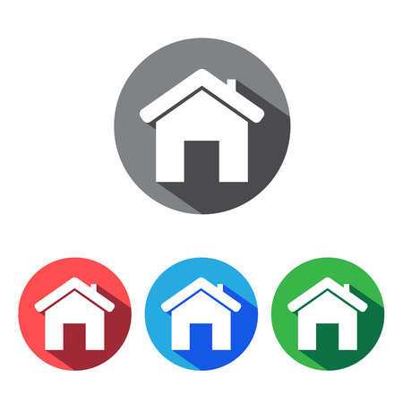apartment buildings: House flat icons