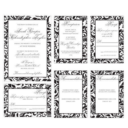 wedding: Wedding Invitation Set