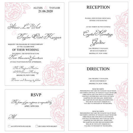 wedding: Wedding Invitaiom Set Template