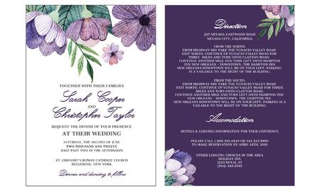 Mariage Modèle Invitation de carte