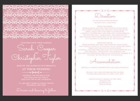 装飾結婚式の招待カードの招待状