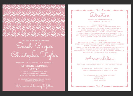 Wedding Invitation Card Invitation with ornaments