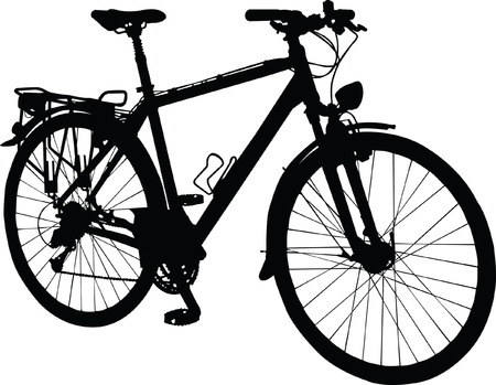 bike vector: silueta bicicleta - vector