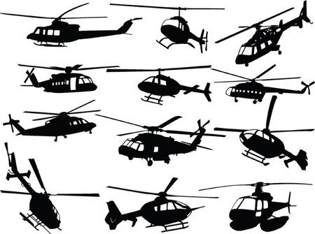 fighter pilot: grande collezione di elicotteri - vettore Vettoriali