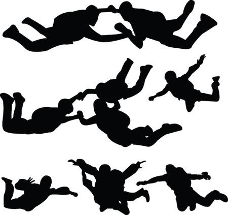 parachutist: parachutist collection - vector