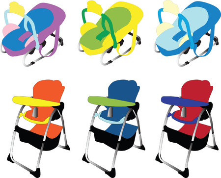 baby equipment collection - vector Vector