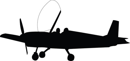 airplane with pilot Vector