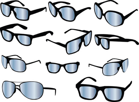 sunglasses collection - vector Vector