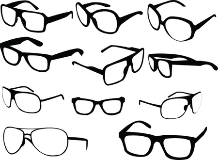 sunglasses collection 2 - vector Vector
