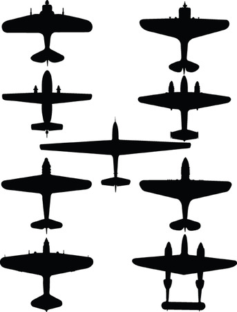 old planes collection 2 - vector