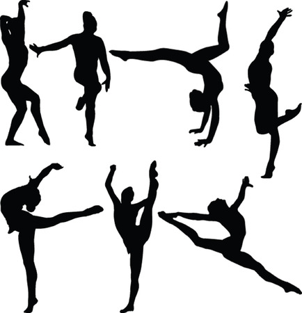 gymnastics girl collection 2 - vector Stock Vector - 5030355
