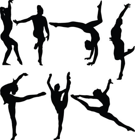 gymnastics girl collection 2 - vector Vector