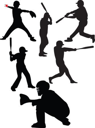 baseball collection - vector Vector