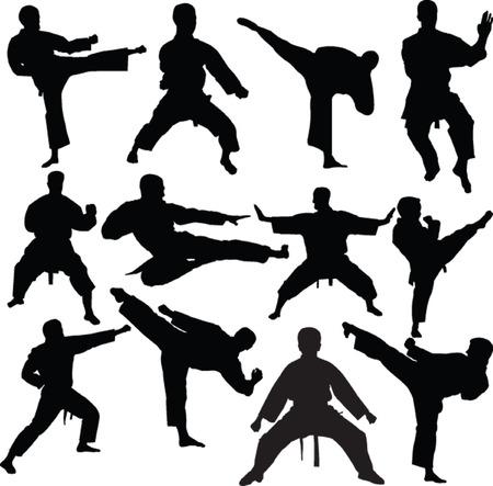kyokushinkai: karate fighters collection - vector