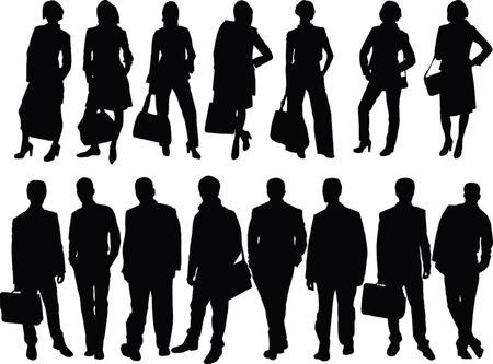 business women and men - vector Vector
