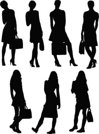 business woman - vector Vector