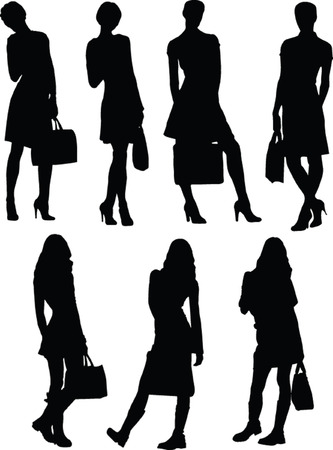 business shoes: business woman - vector