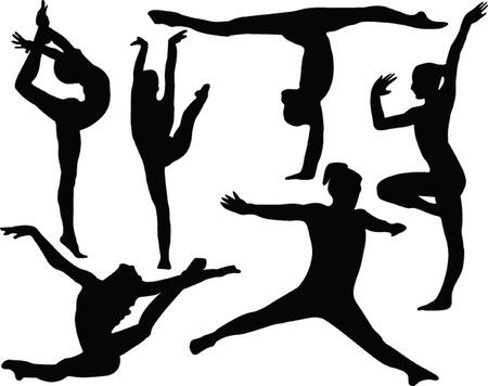 gimnasia: gimnasia collection - vector