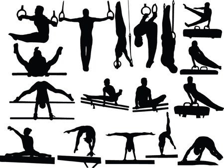 creative strength: gymnastics collection 3 - vector Illustration