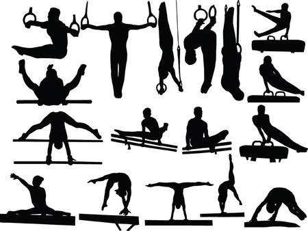 gymnastik: Gymnastik Kollektion 3 - vector Illustration
