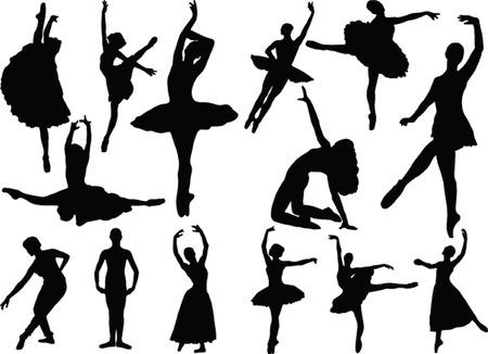 ballet dancers collection - vector Stock Vector - 5052927