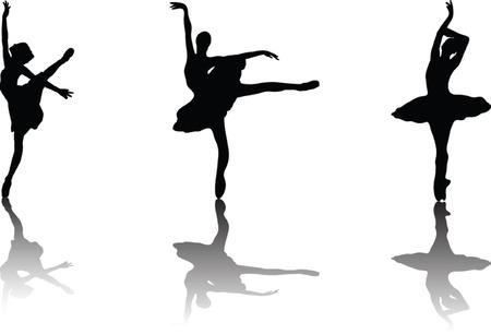 ballerina silhouette: ballerina - vector