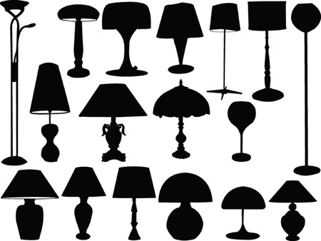 big collection of lamps - vector Vector