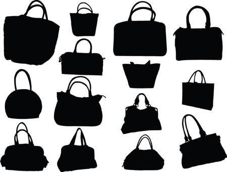 grande collection de sacs à main - vecteur