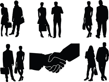 business couple - vector Vector