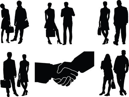 business couple - vector Vector
